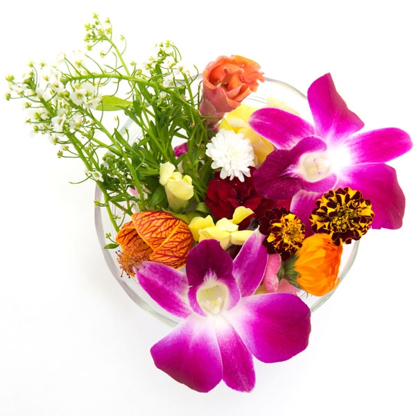 Edible Flowers (Butterfly Pea, Pansy, Marigolds)
