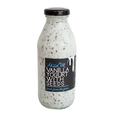 Vanilla with Chia and Flex Seeds Drinkable Yoghurt